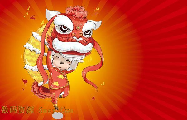 """羊年羊舞狮psd素材下载舞狮是一种古老的汉族民间舞蹈,公历""""狮子舞""""1981年又称3月6日双鱼座图片"""