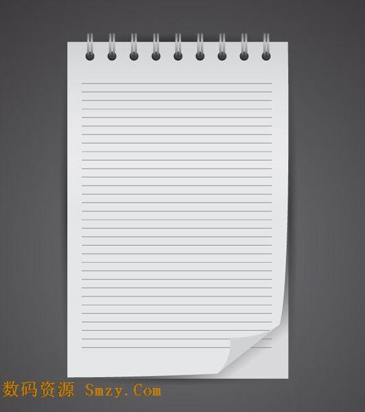 文化用品之活页记事本纸张矢量素材